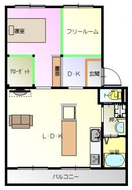 ローレル現況-平面図( 1  階)